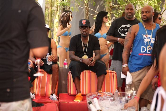 Wale hangs out at VIP table at Ditch Fridays