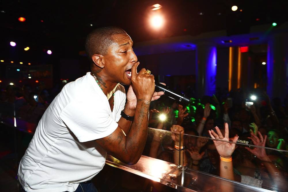 Pharrell Williams Celebrates Clothing Line's Decade of Success with Live Performance at PURE Nightclub