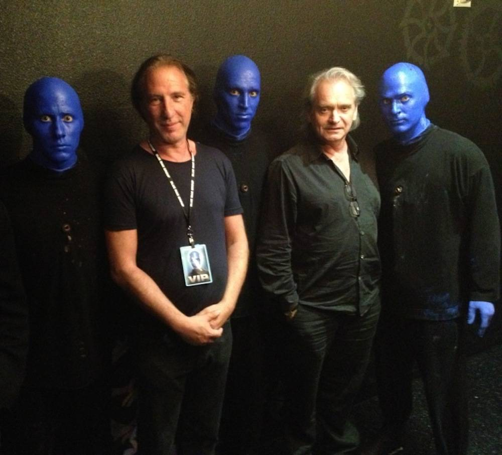 8.15.13 (L to R) Wang Chung's Nick Feldman and Jack Hues attend Blue Man Group at Monte Carlo Resort and Casino