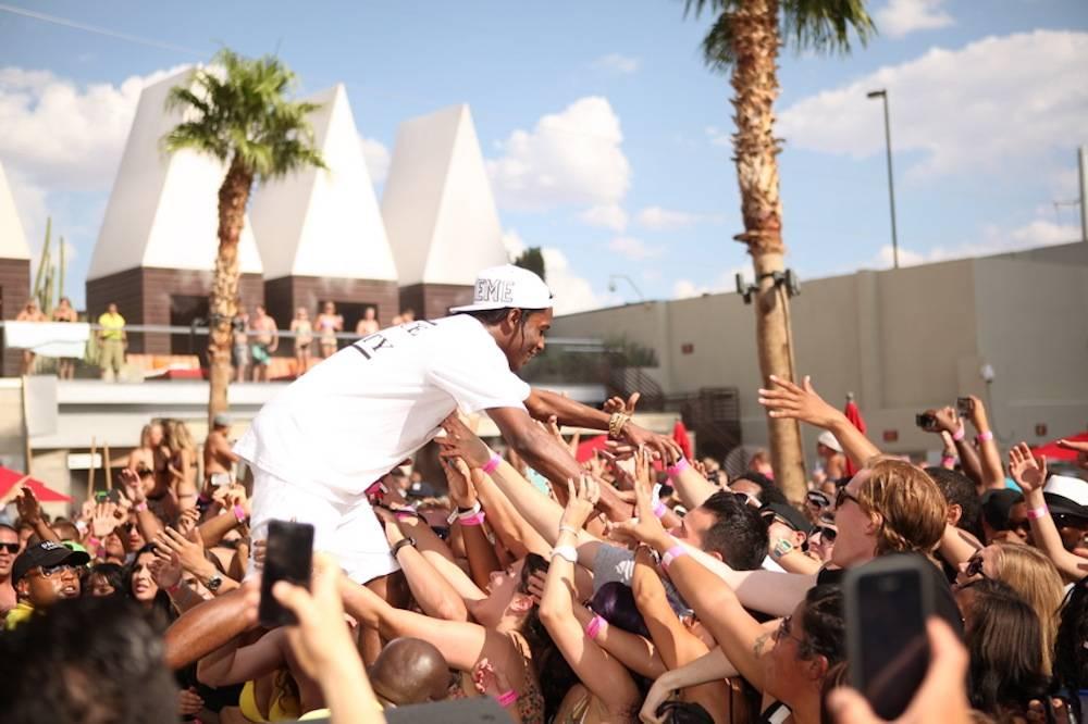 A$AP Rocky high-fives fans