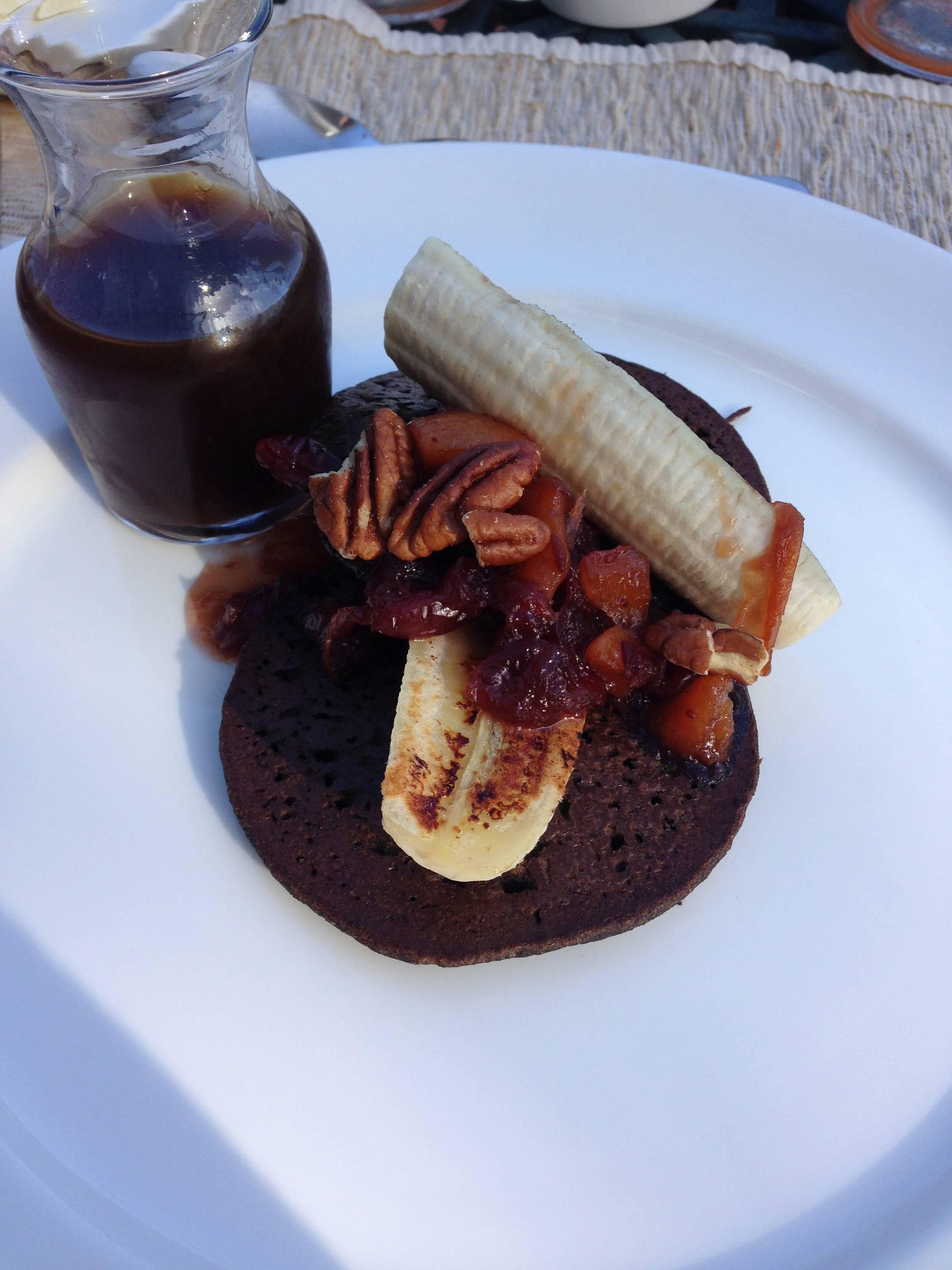 COMO Shambala breakfast with buckweat pancakes
