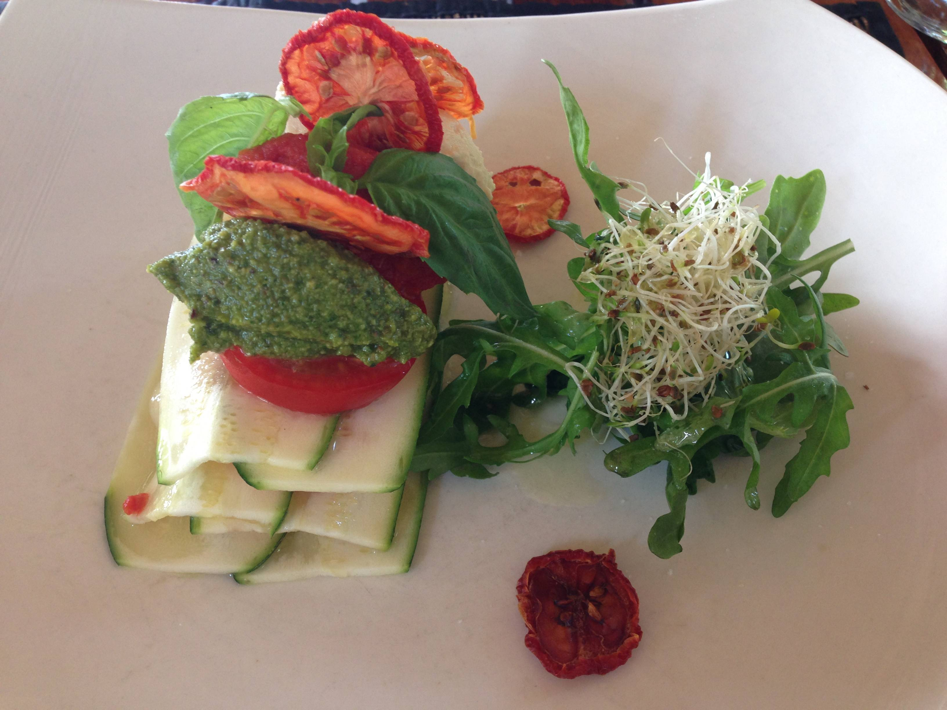 Raw Lasagne from the COMO Shambala Menu