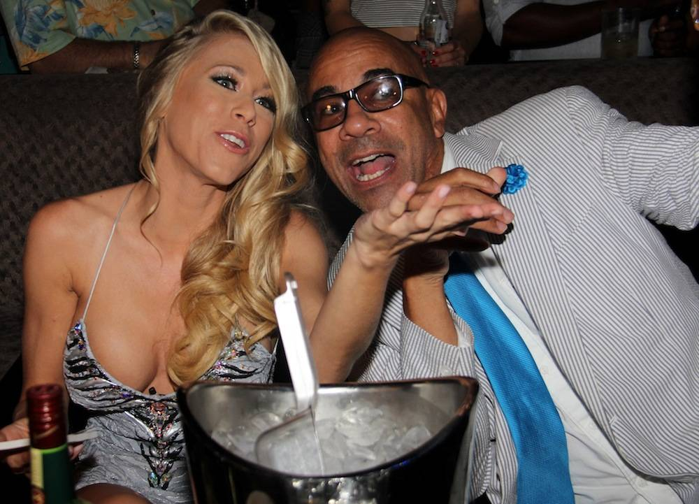 Katie Morgan and Johnny Brown judging Bangin Booty contest at Posh