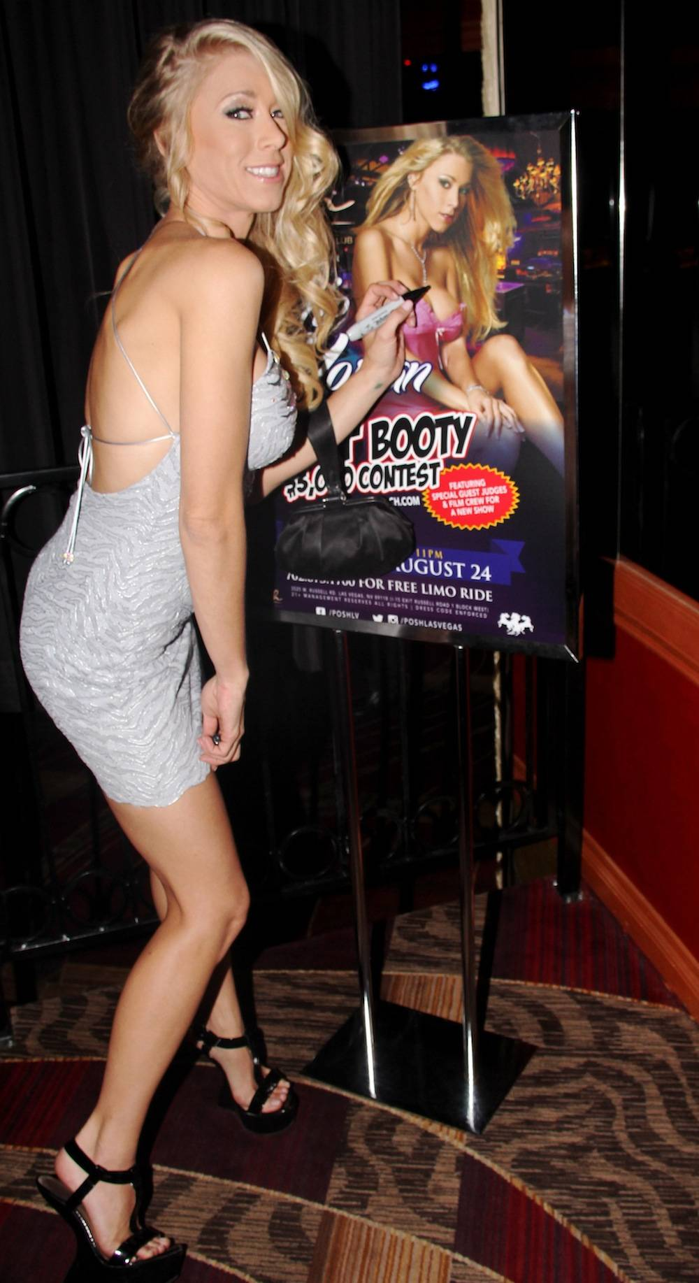 Katie Morgan signing poster at Crazy Horse III