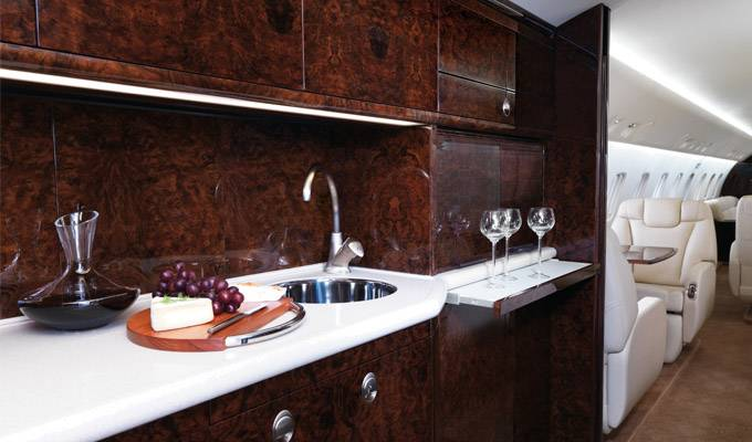 Legacy_650_Large_Private_Jet_Galley