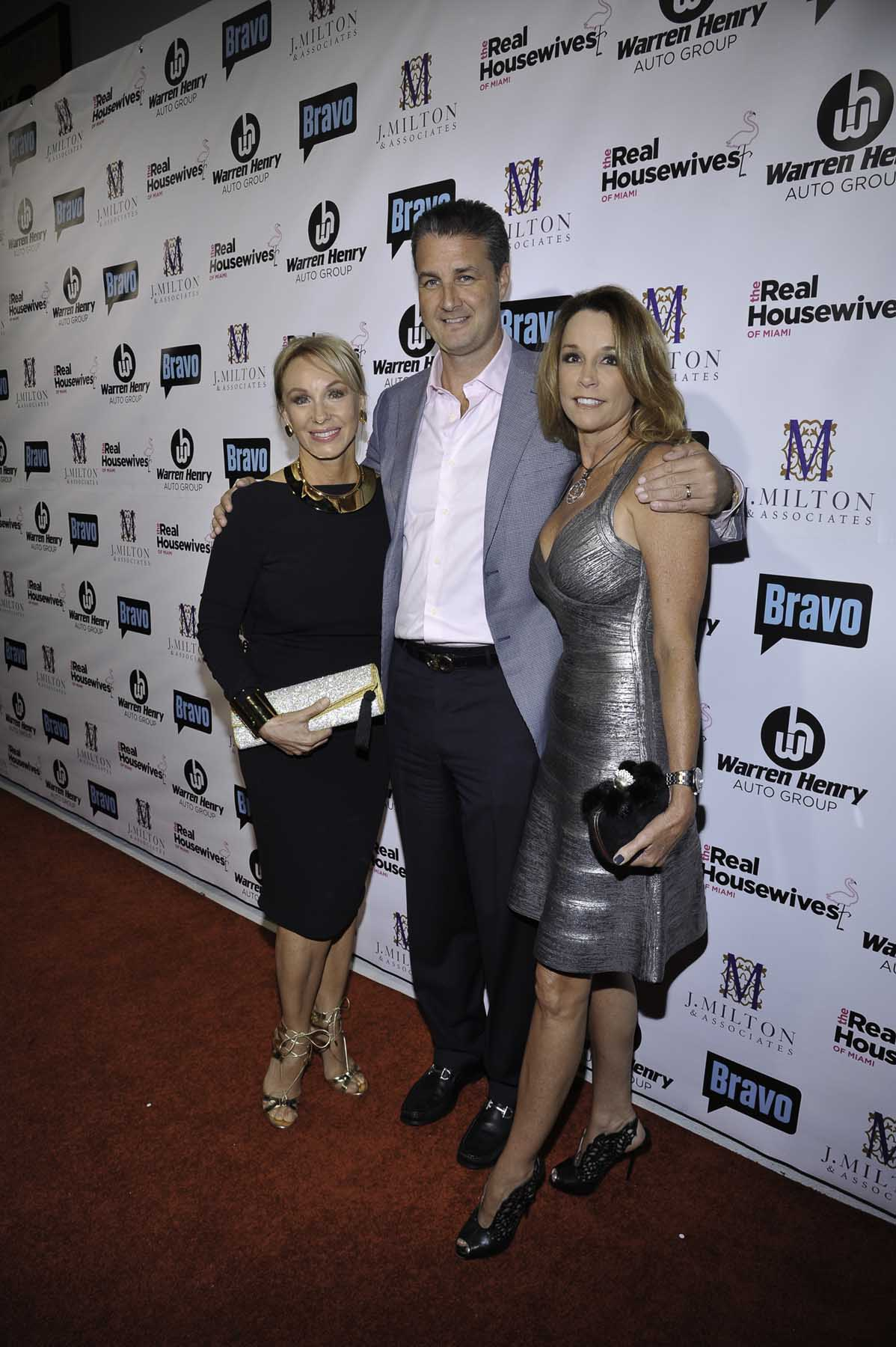 Lea Black of The Real Housewives of Miami – Season 3; Erik Day, Vice President and CFO of Warren Henry Auto Group; and Gina Milton, Executive Vice President of J. Milton & Associates