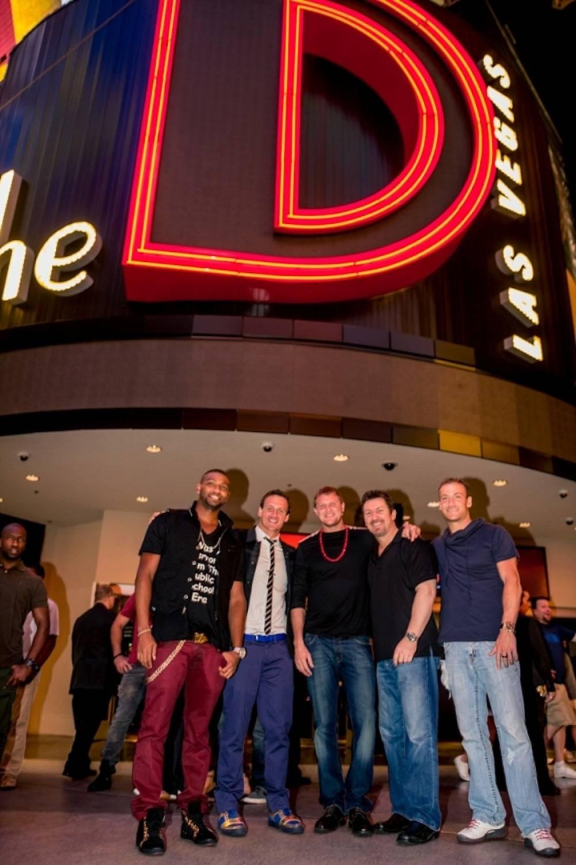 Ryan Lochte celebrates birthday at the D Las Vegas with Matt Haupt, Cullen Jones and Eddie Moses 8.18.13 - Photo Credit Glenn Brogan (2)