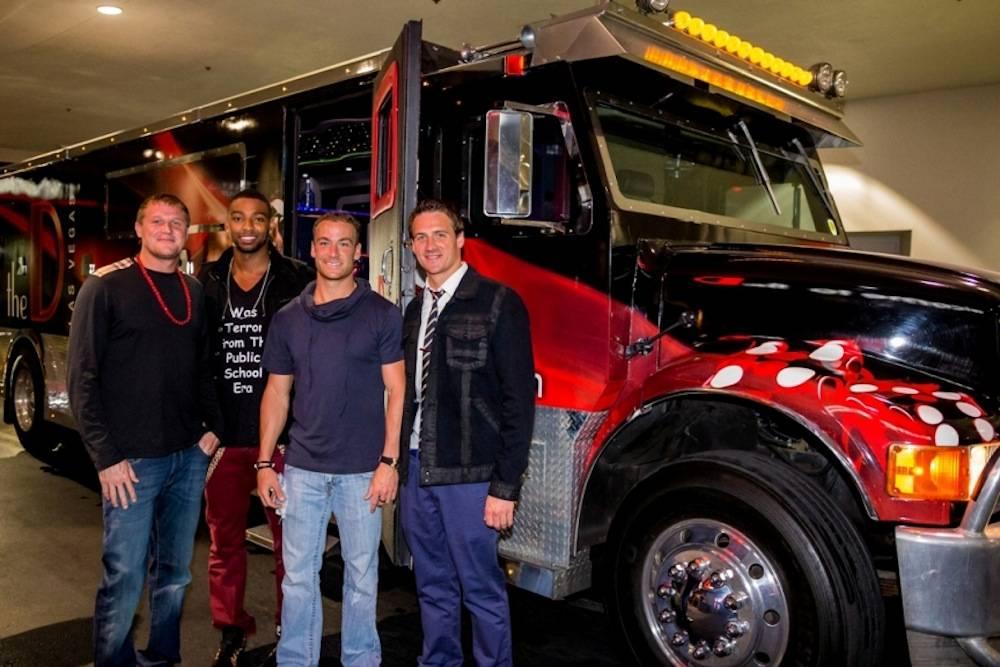 Ryan Lochte celebrates birthday at the D Las Vegas with Matt Haupt, Cullen Jones and Eddie Moses 8.18.13 - Photo Credit Glenn Brogan