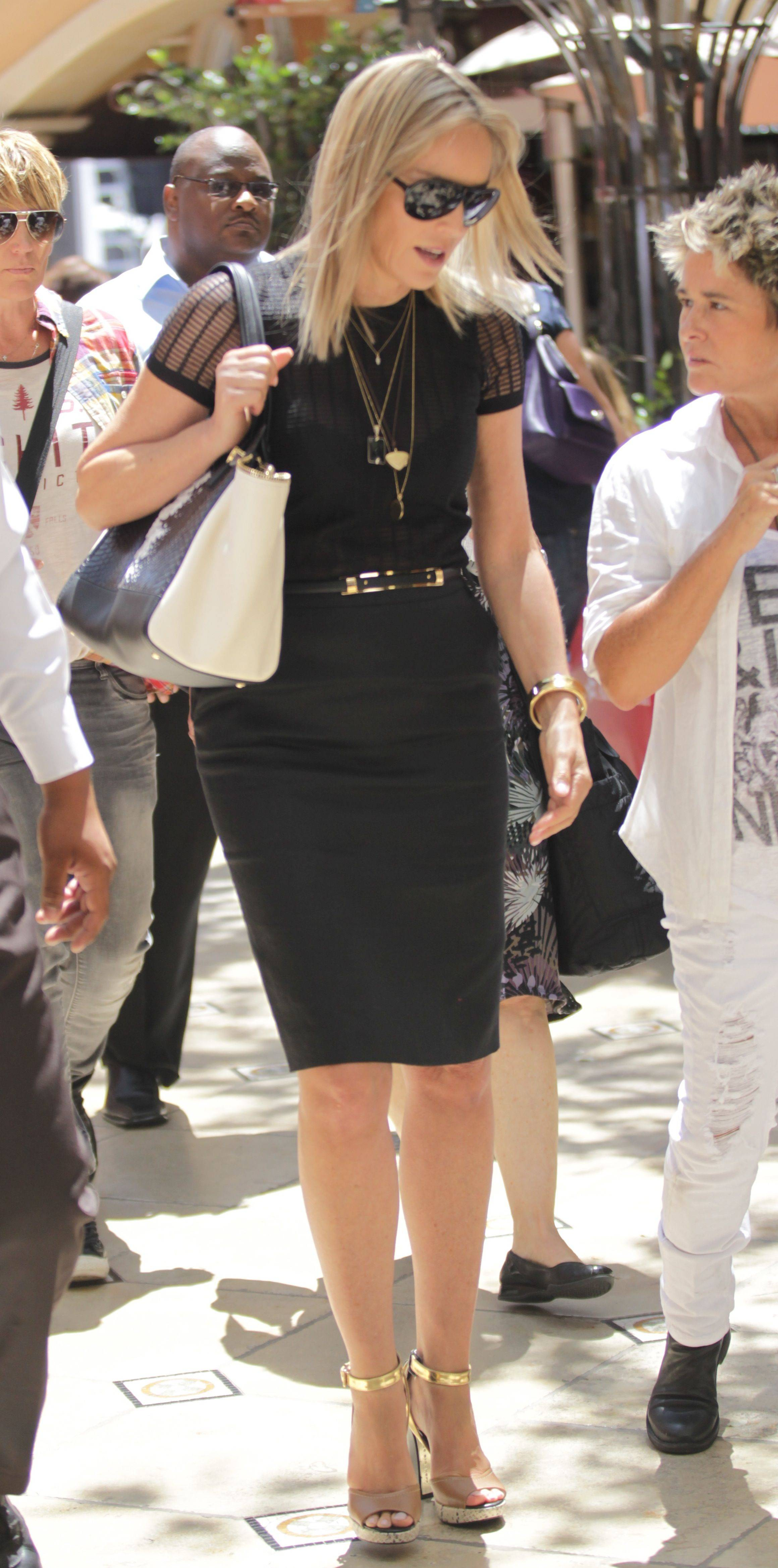 Sharon Stone at The Grove in Hollywood