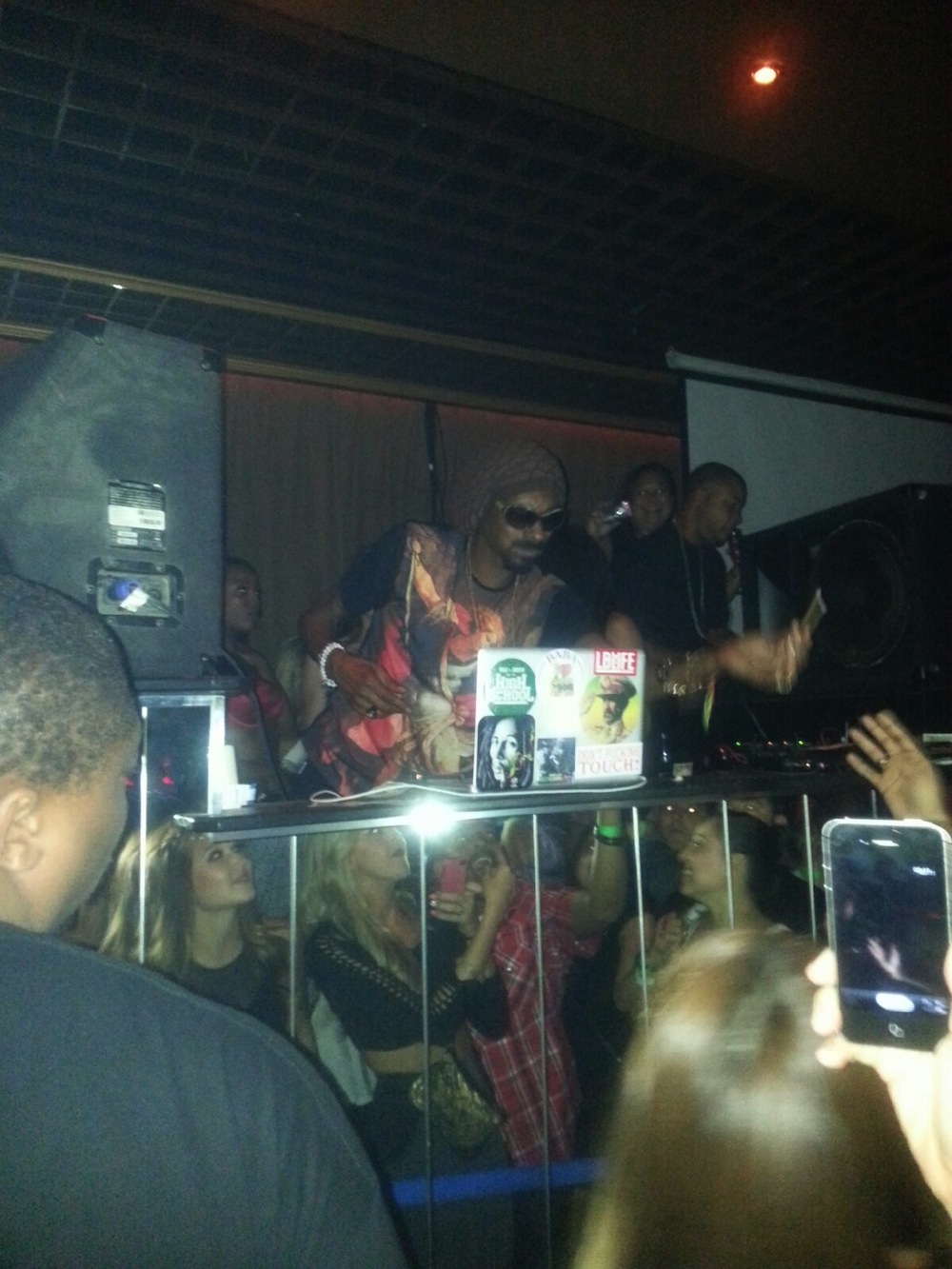 Snoop Lion in DJ booth at Crazy Horse III