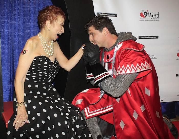Steven Phengar of Tournament of Kings kisses Jeanie Linders