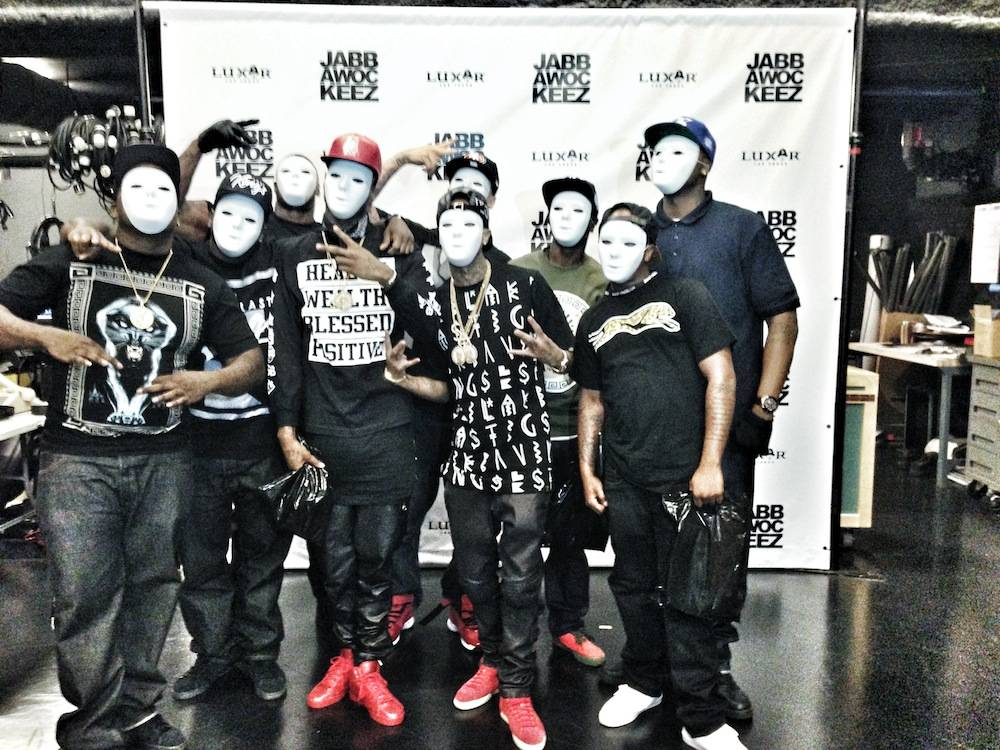 Tyga at Jabbawockeez (1)