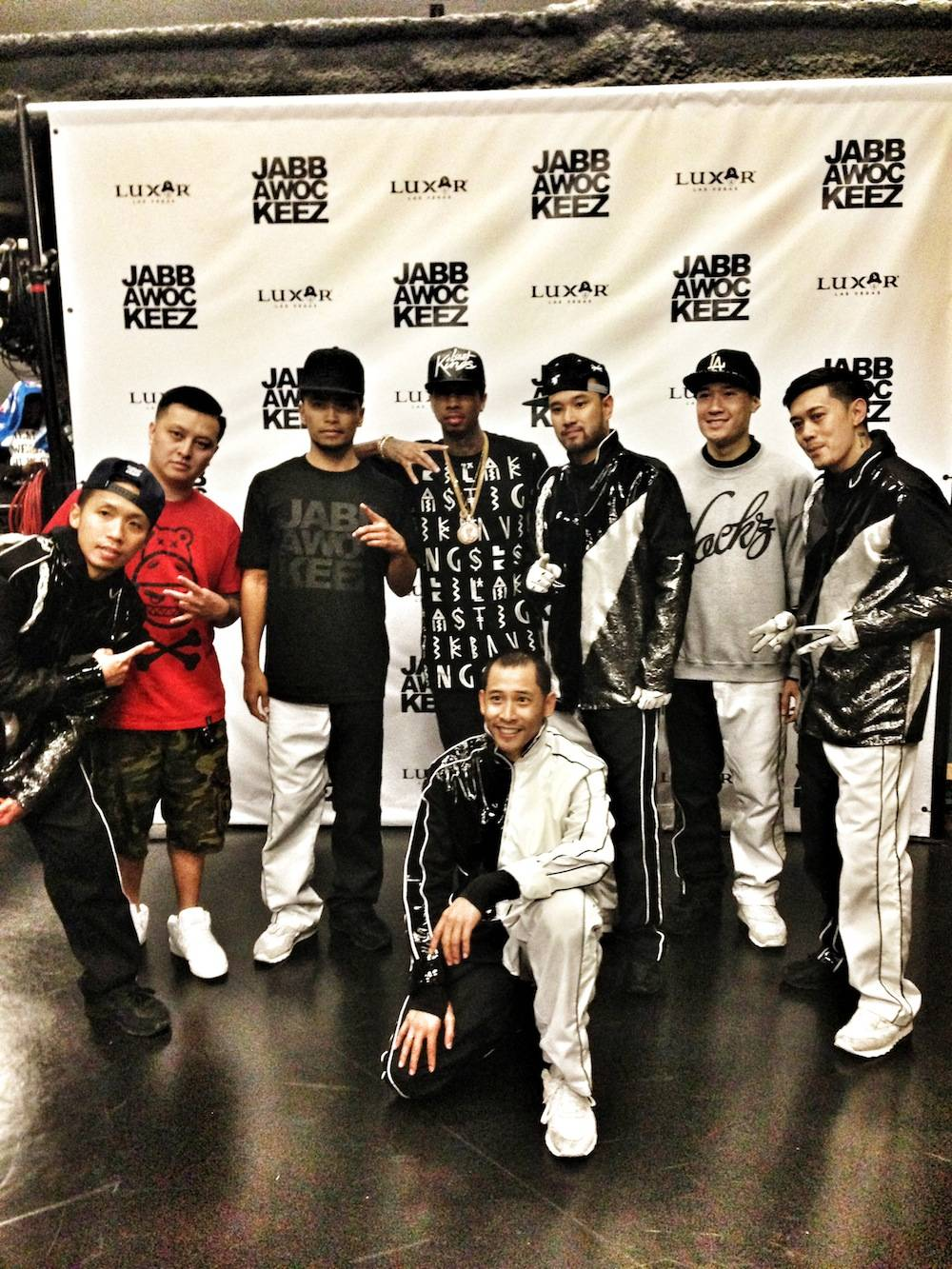 Tyga at Jabbawockeez (2)