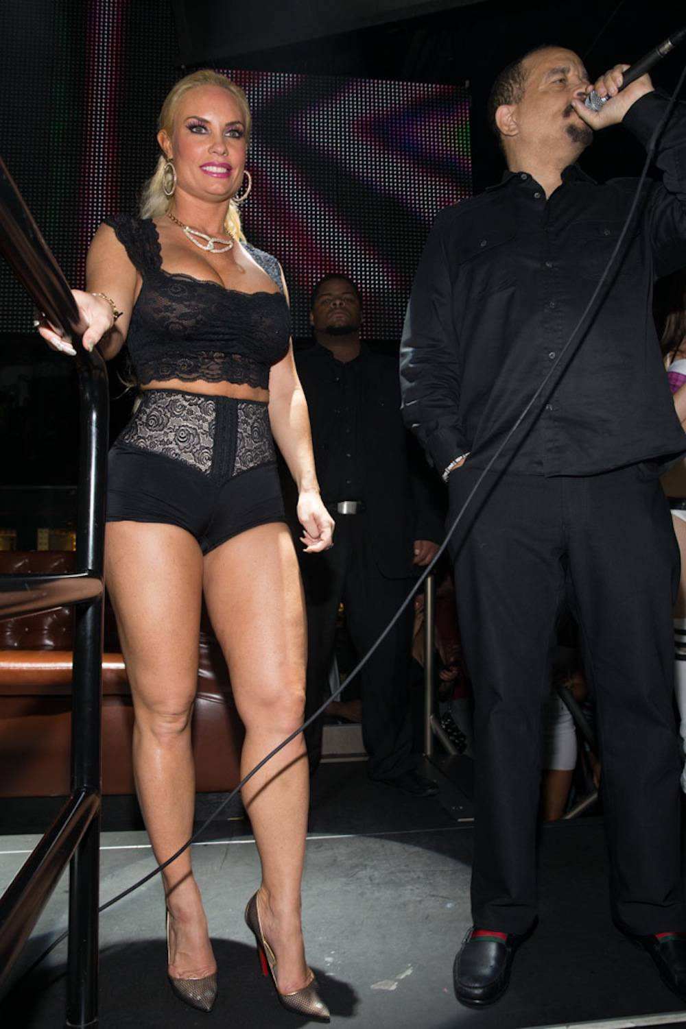 9.1.13 Coco and Ice-T thank fans on stage at Body English Nightclub & Afterhours Hard Rock Hotel & Casino, photo credit Erik Kabik