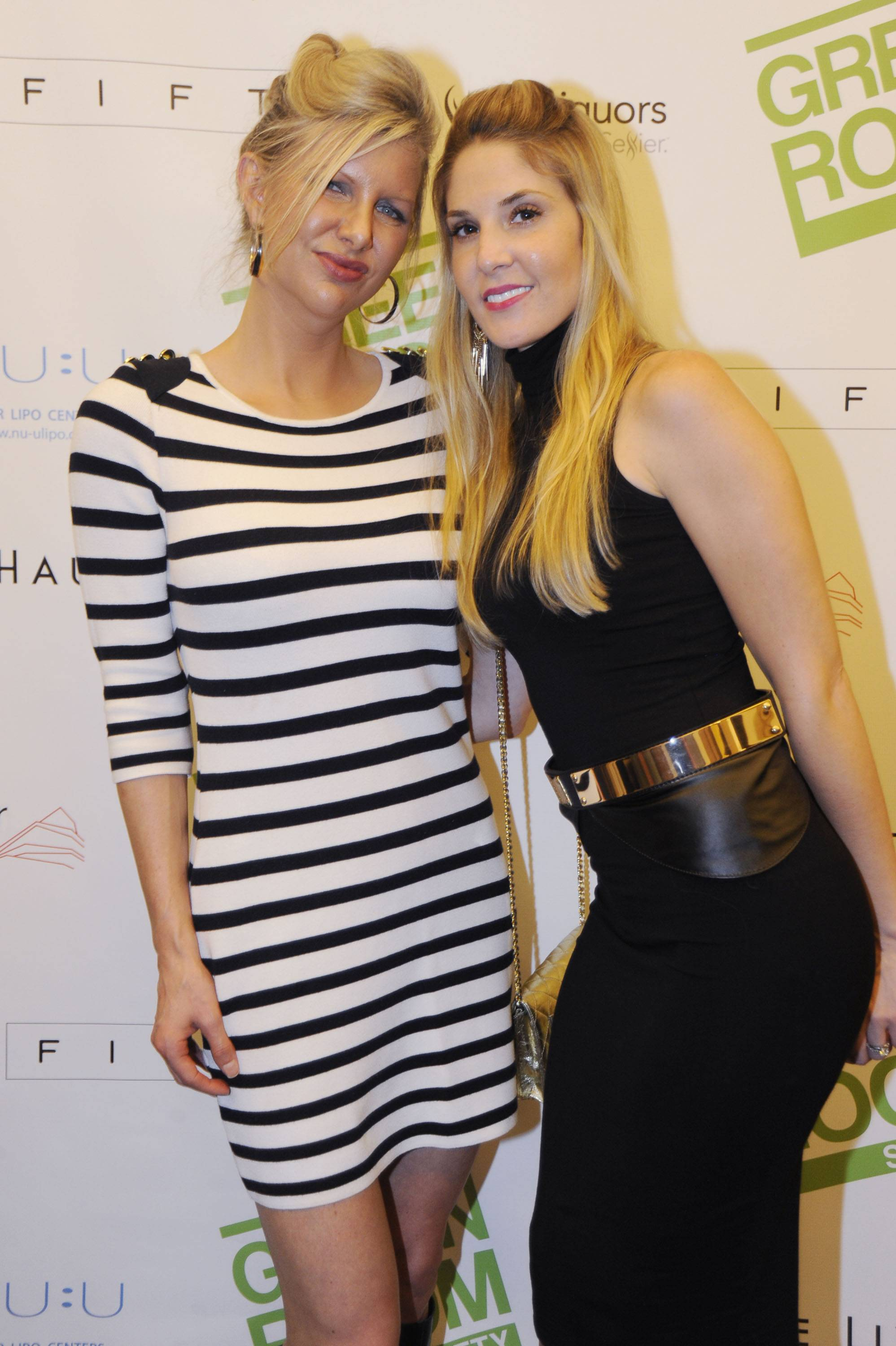 April Donelson from Haute Living and Jillian Posner at the Green Room Society's season kick-off event