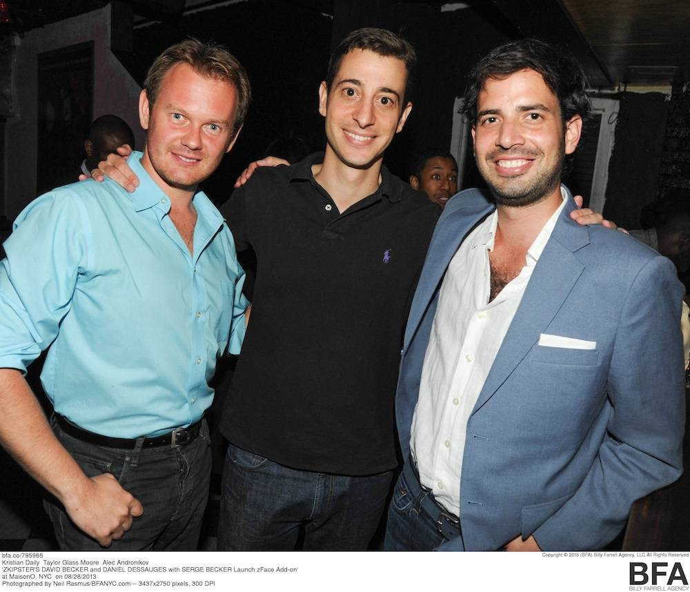 ZKIPSTER'S DAVID BECKER and DANIEL DESSAUGES with SERGE BECKER Launch zFace Add-on