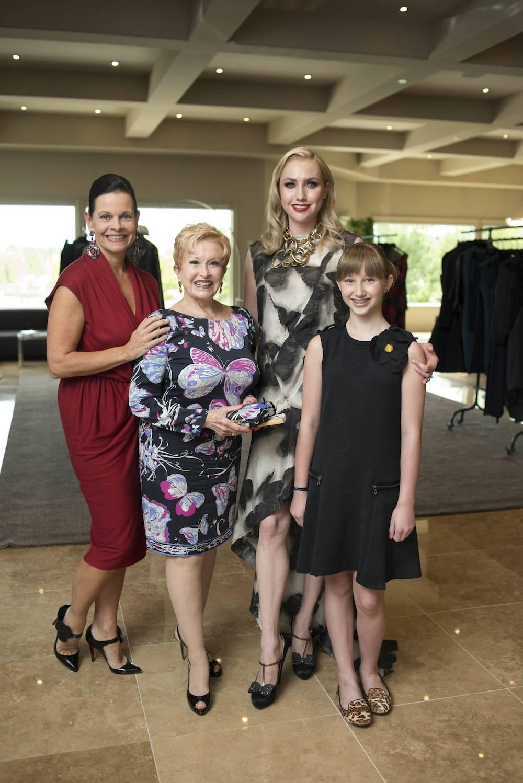 Beth Barbre Nancy Houssels Audra Baldwin and daughter Skyler