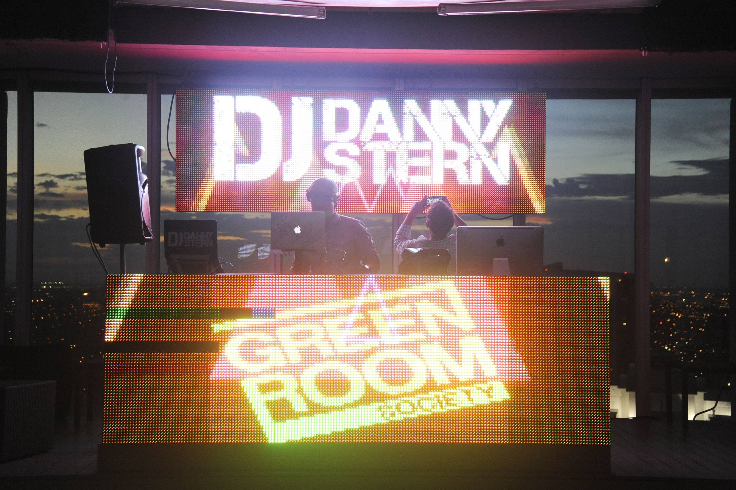DJ Danny Stern & DJ Corey Chase on the turntables at the Green Room Society's season kick-off event