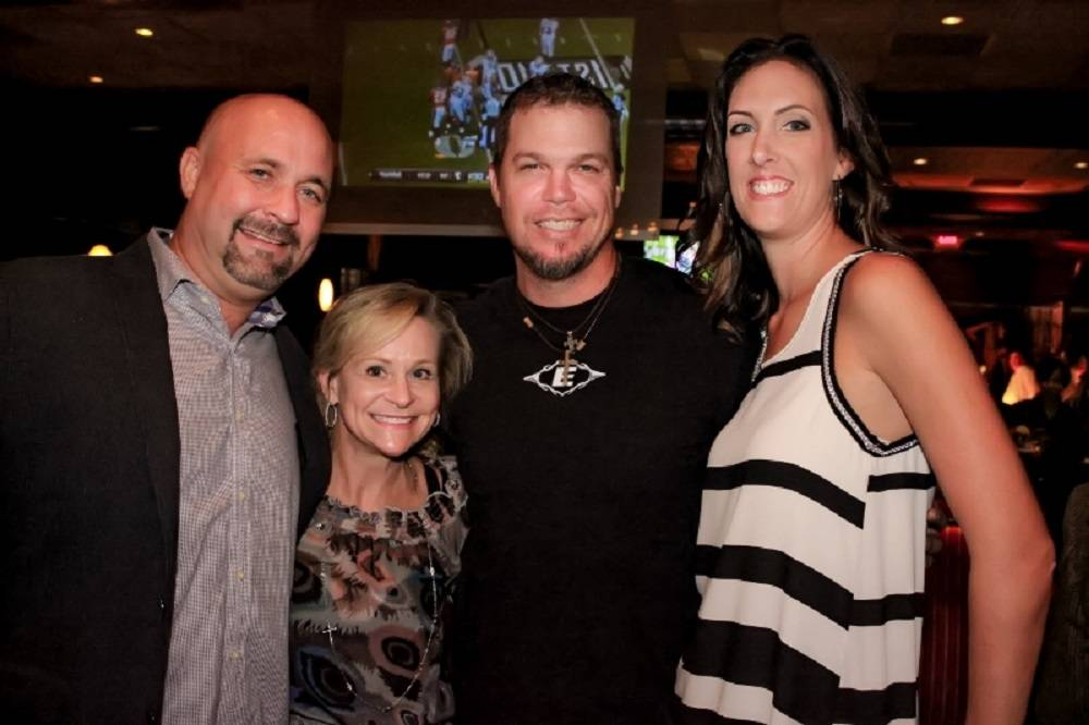David Clapp, Dean Crowe, Chipper jones, and Jenny Meyers