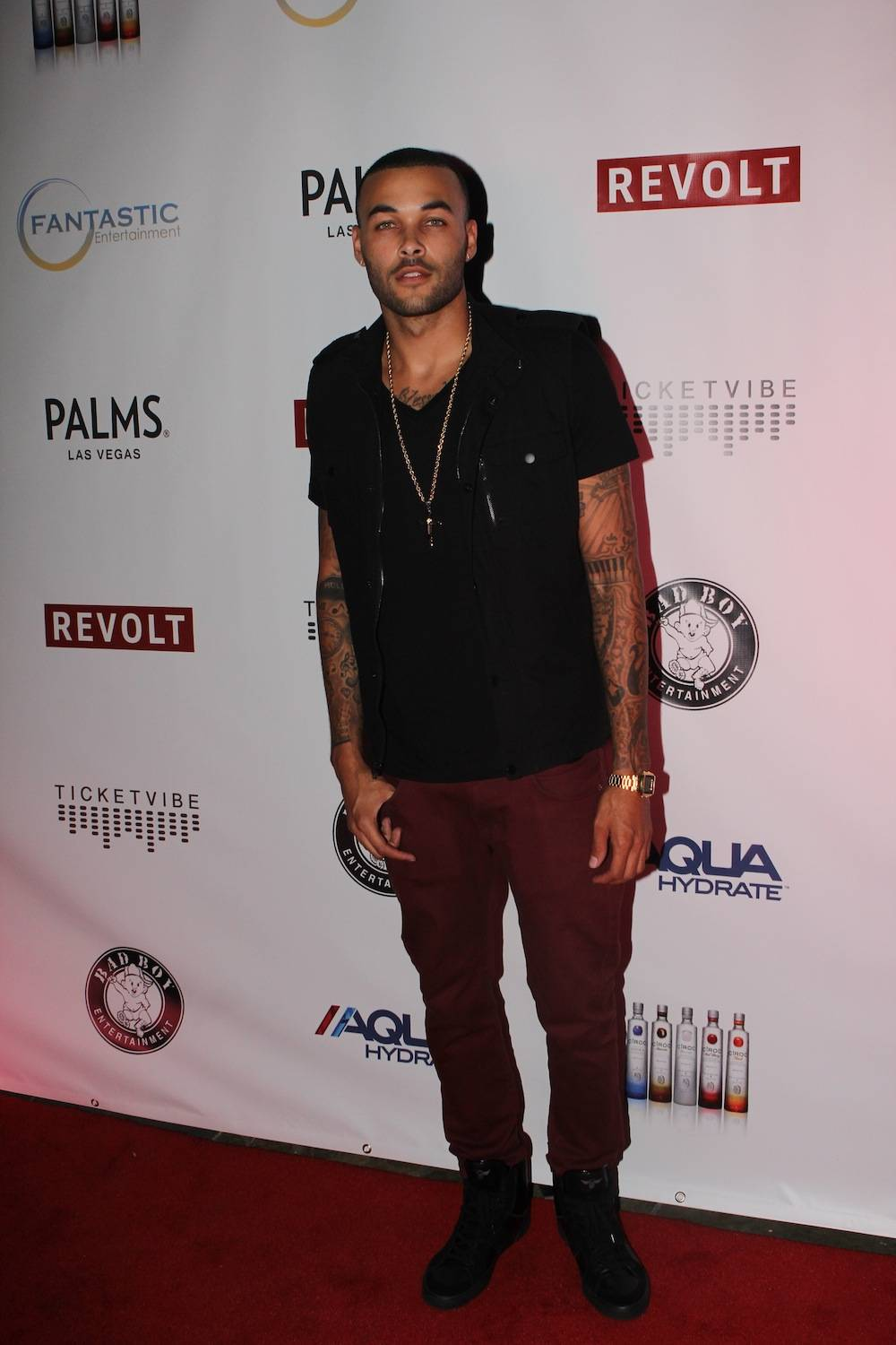 Don Benjamin on carpet