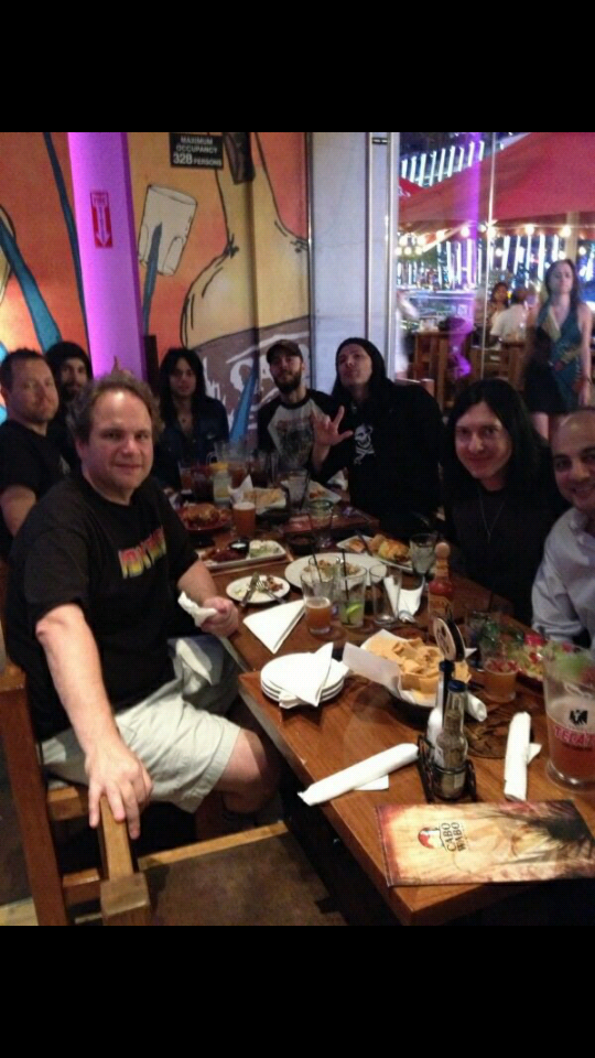 Eddie Trunk and friends at Cabo Wabo Cantina