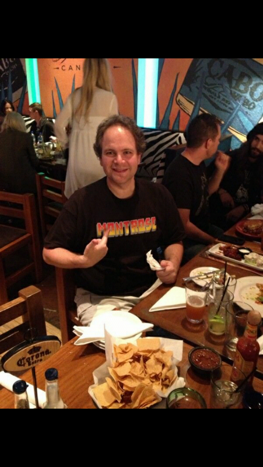 Eddie Trunk dines at Cabo Wabo Cantina