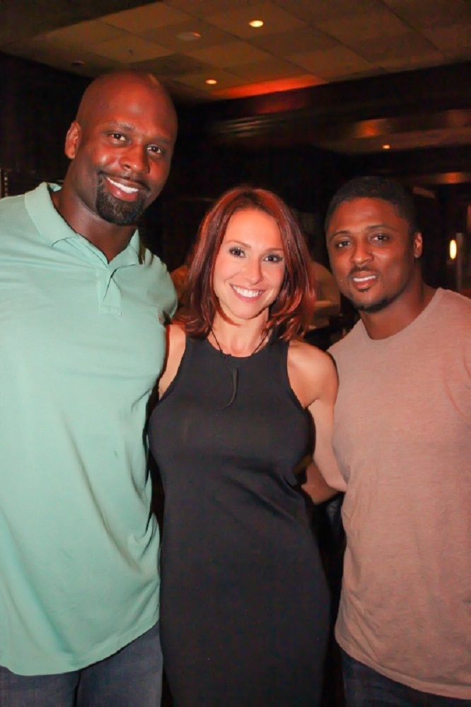 Former NFL player Vonnie Holliday, Jamie Annarino and former NFL player Warrick Dunn