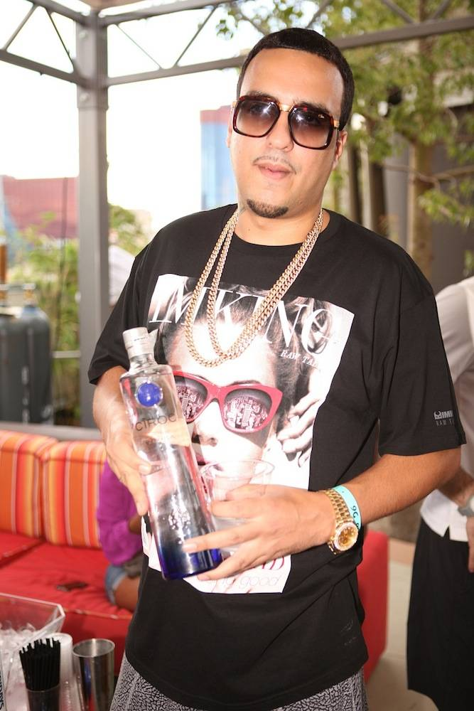 French Montana with Ciroc bottle