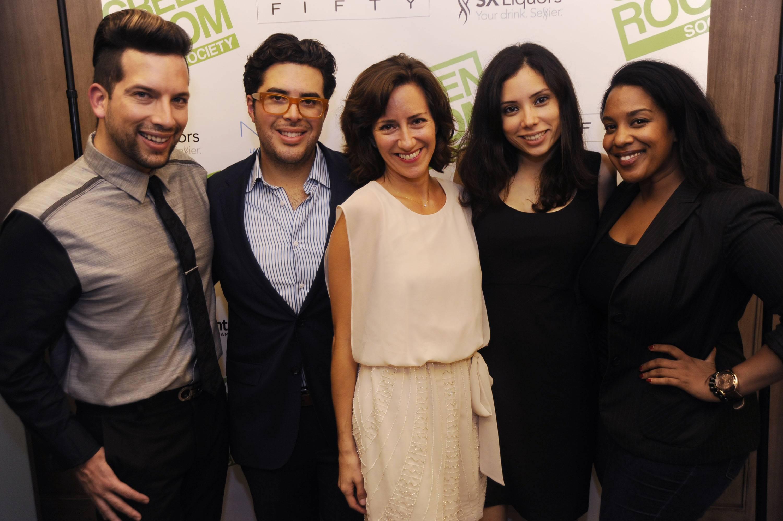 Gino Campodonico, Jorge Casariego, Eva Silverstein, Maria Arguello, & Vanessa James at the Green Room Society's season kick-off event