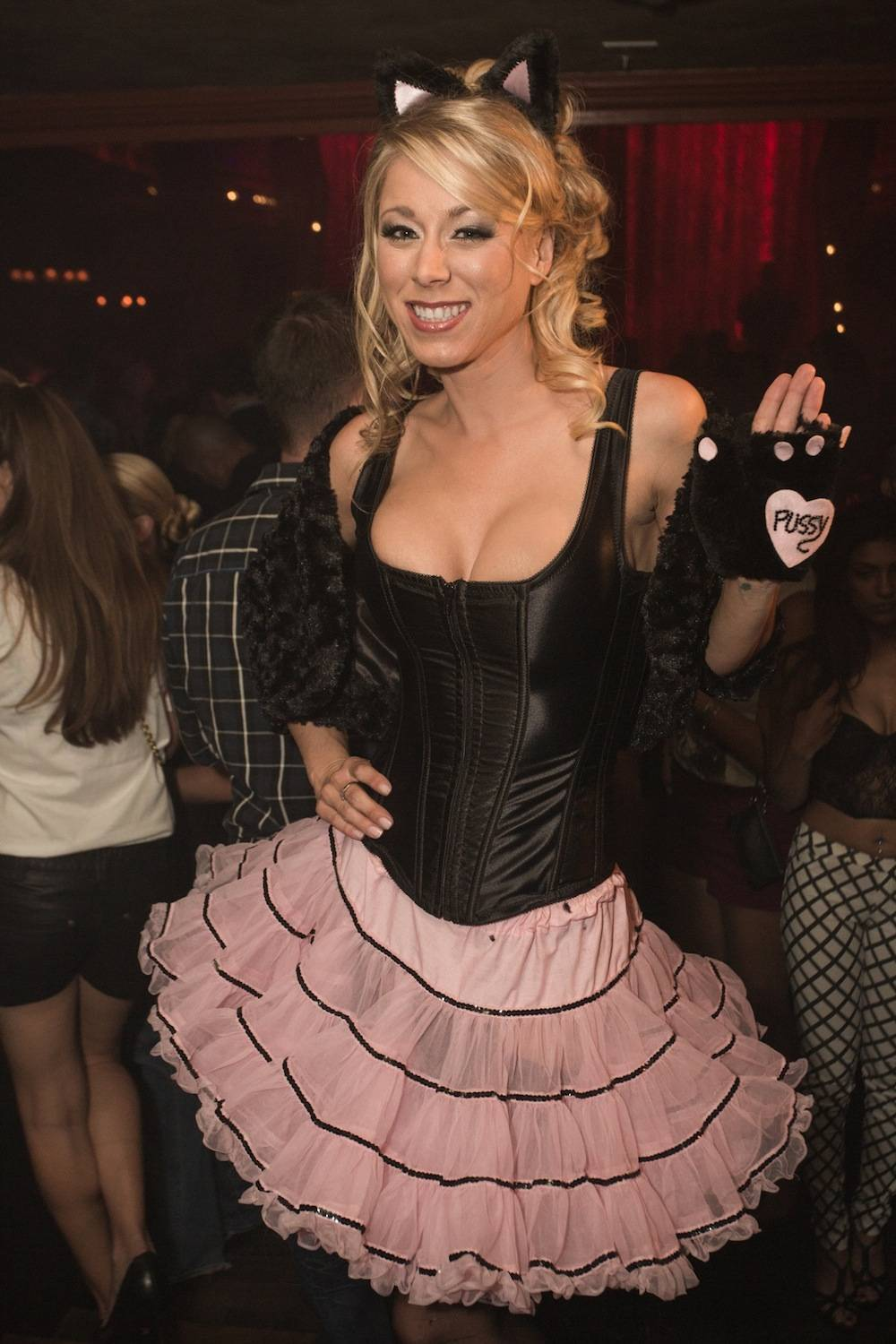 Katie Morgan at VIP table inside The ACT Nightclub