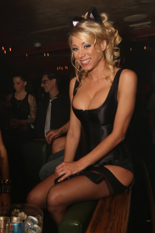 Katie Morgan inside The ACT Nightclub