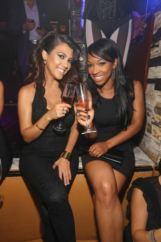 Kourtney Kardashian & Malika Haqq at Hyde Bellagio, Las Vegas, 8.31.13, photo credit - Hyde Bellagio