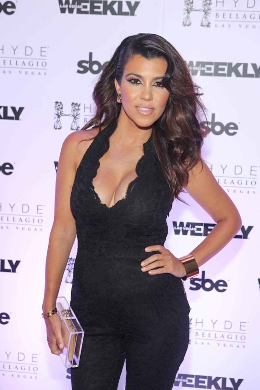 Kourtney Kardashian on red carpet at Hyde Bellagio, Las Vegas, 8.31.13 - photo credit - Hyde Bellagio