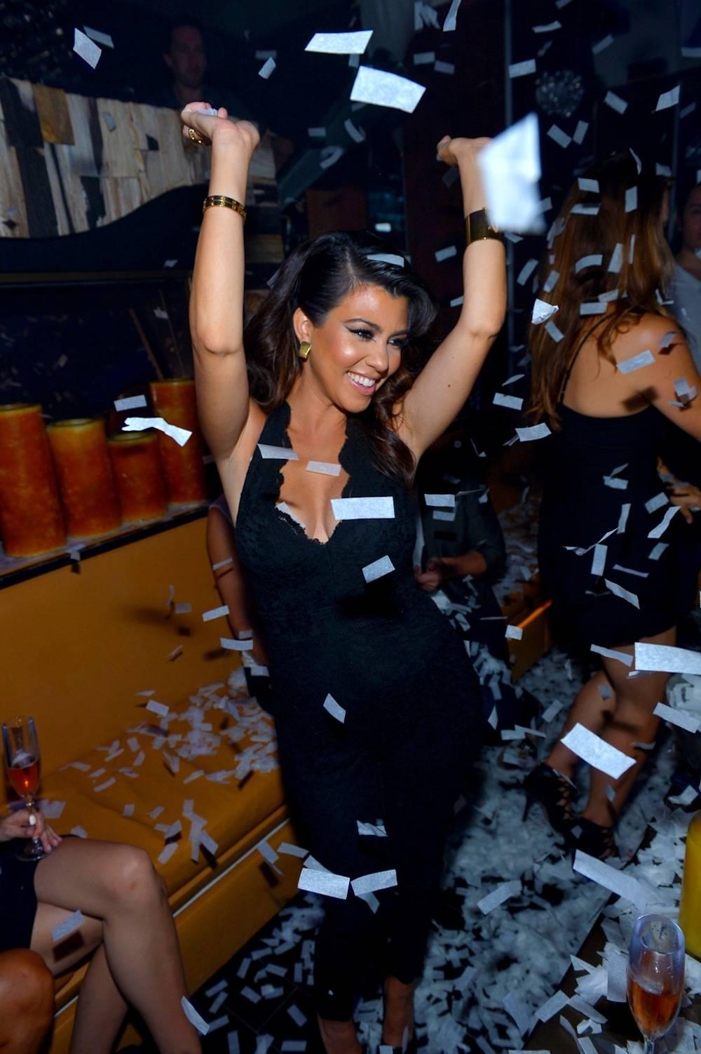 Kourtney Kardashian parties at Hyde Bellagio, Las Vegas, 8.31.13, credit-Bryan Steffy, GettyWireImage