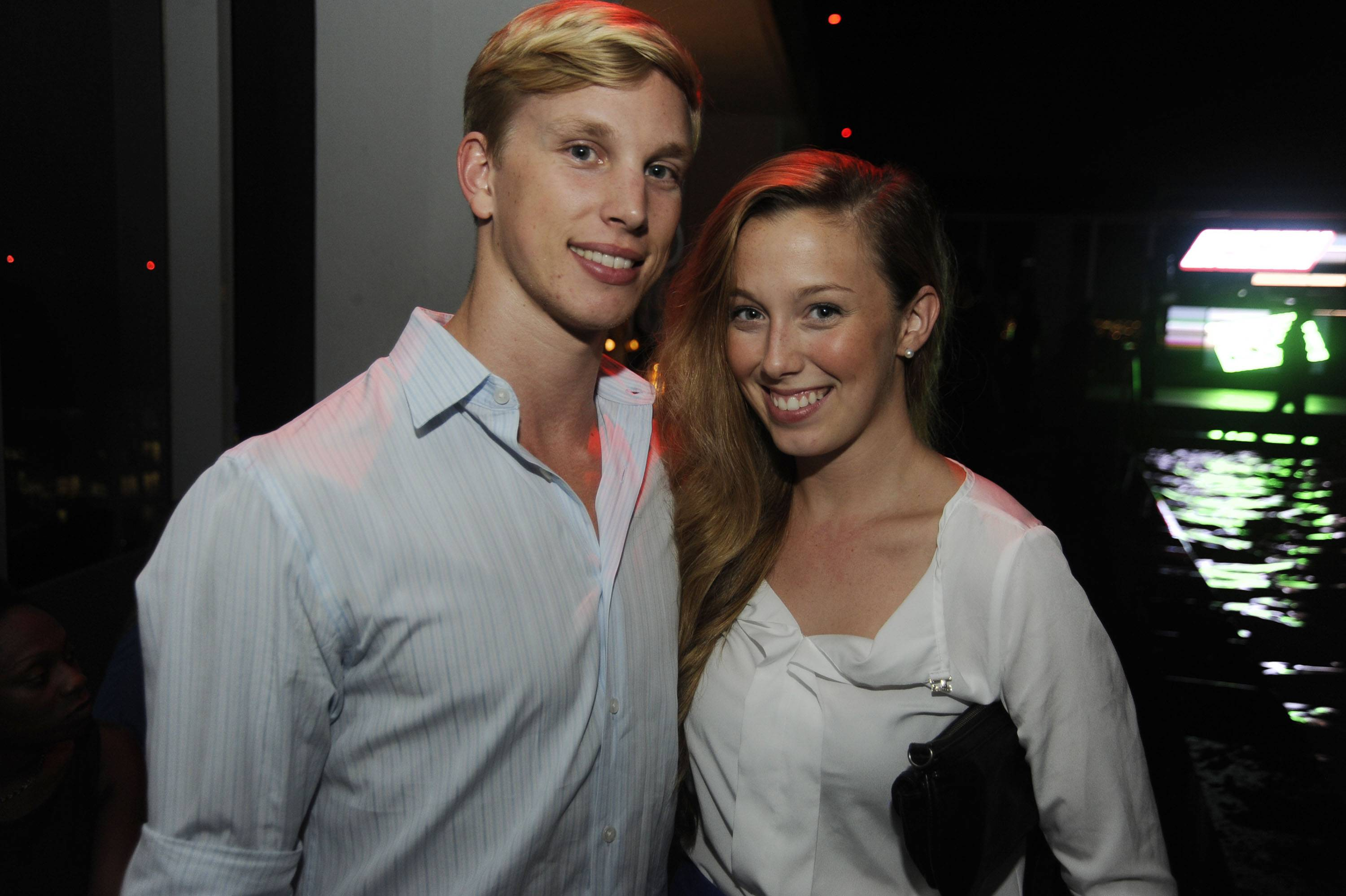Miami City Ballet dancers Chase Swatosh & Suzette Logue at the Adrienne Arsht Center's Green Room Society season kick-off event