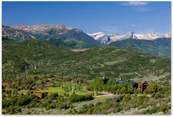 A property in Wildcat Ranch with views of surrounding Elk Mountains.