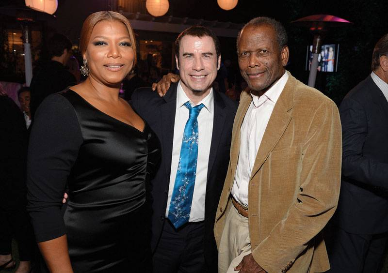 Queen Latifah, John Travolta  and  Sidney Poitier