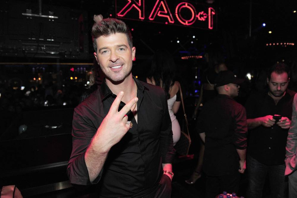 Robin Thicke Makes A Special Appearance At 1 OAK Nightclub At The Mirage In Las Vegas After The iHeartRadio Music Festival