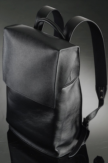 "Balenciaga's black leather backpack for ""A New York Holiday"""