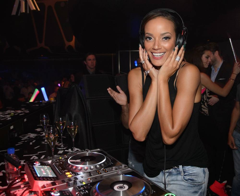 Selita Ebanks in the deejay booth at Hakkasan. Photos: Al Powers/Powers Imagery LLC