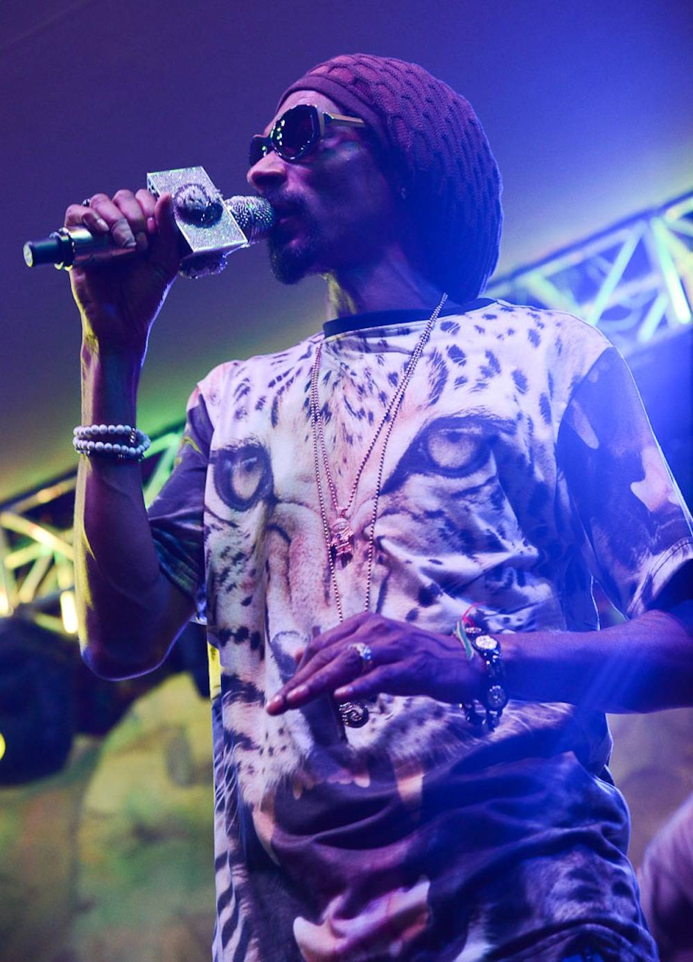 Snoop Dogg aka Snoop Lion performs at the Soundwave stage at the Hard Rock Hotel in Las Vegas, NV