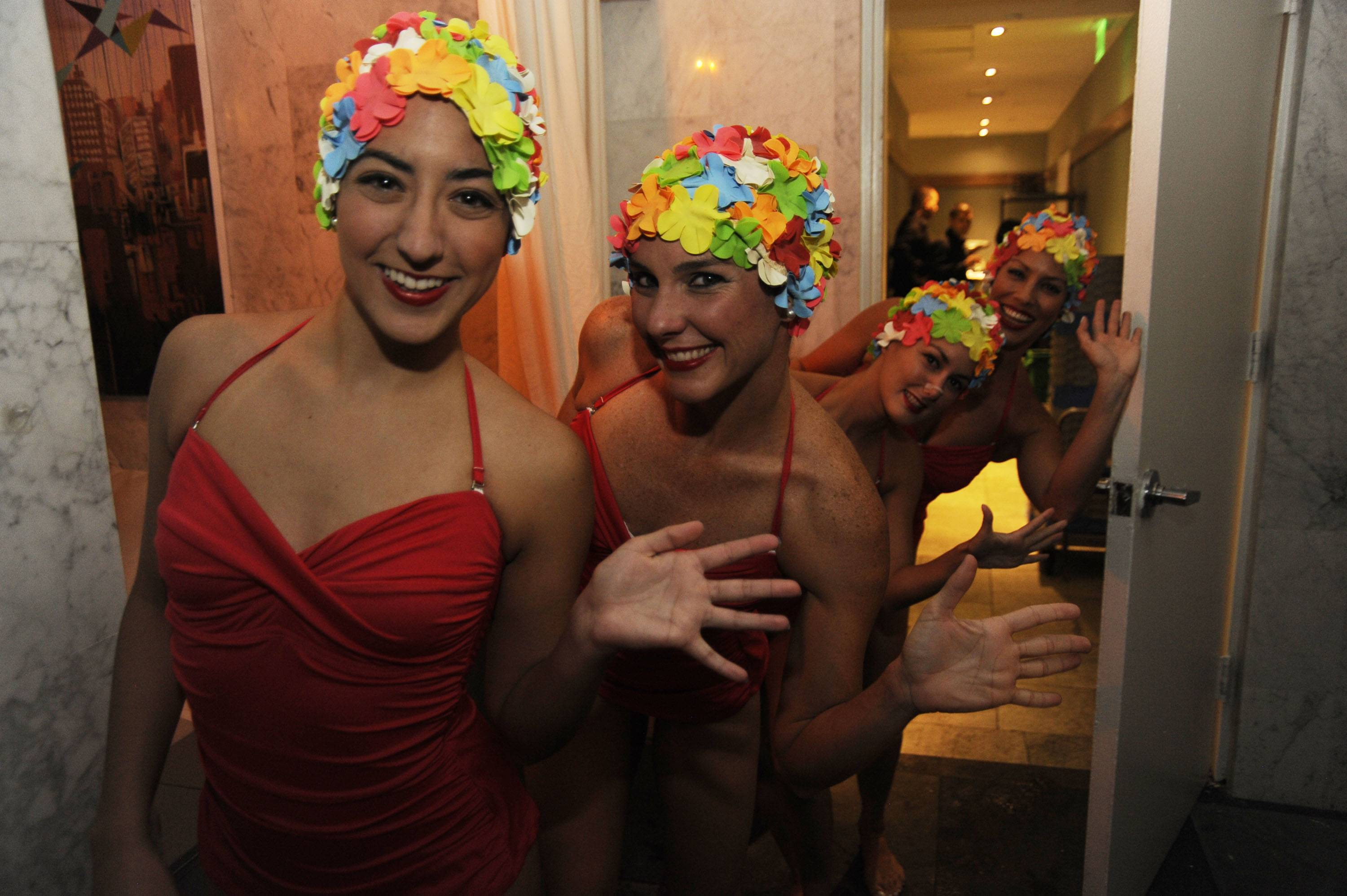 Synchronized swimmers from VERSO at the Adrienne Arsht Center's Green Room Society season kick-off event