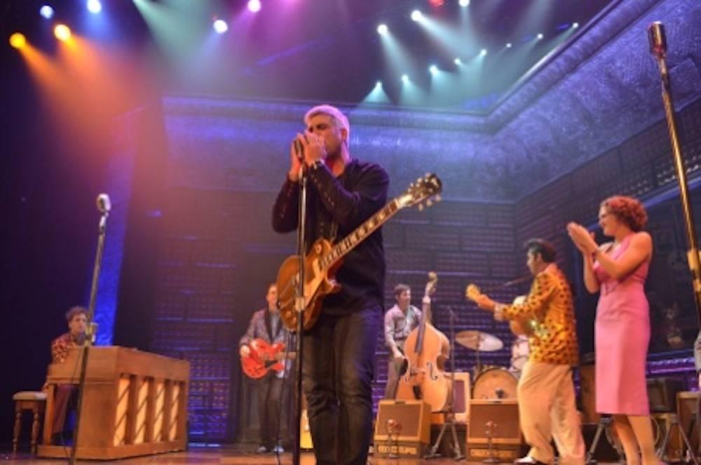 "Taylor Hicks performs with ""Million Dollar Quartet."" Photos: Caesars Entertainment"