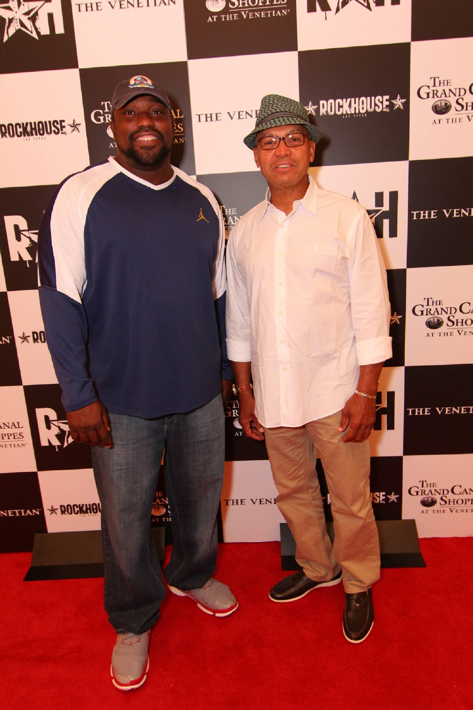 Warren Sapp and Reggie Jackson at Rockhouse
