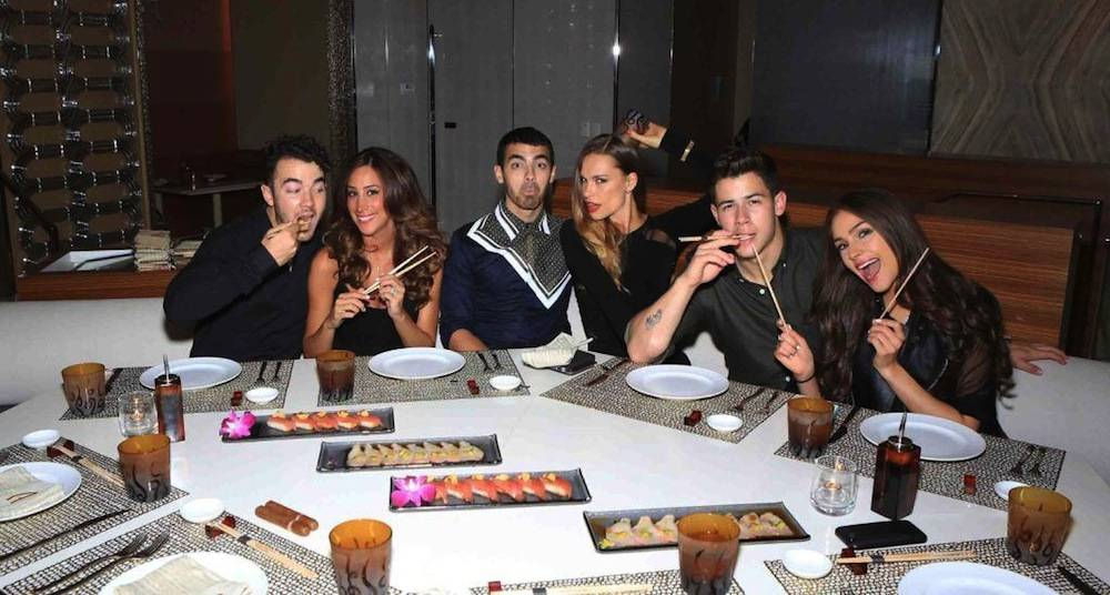 The Jonas Brothers at Andrea's. Photos: WireImage