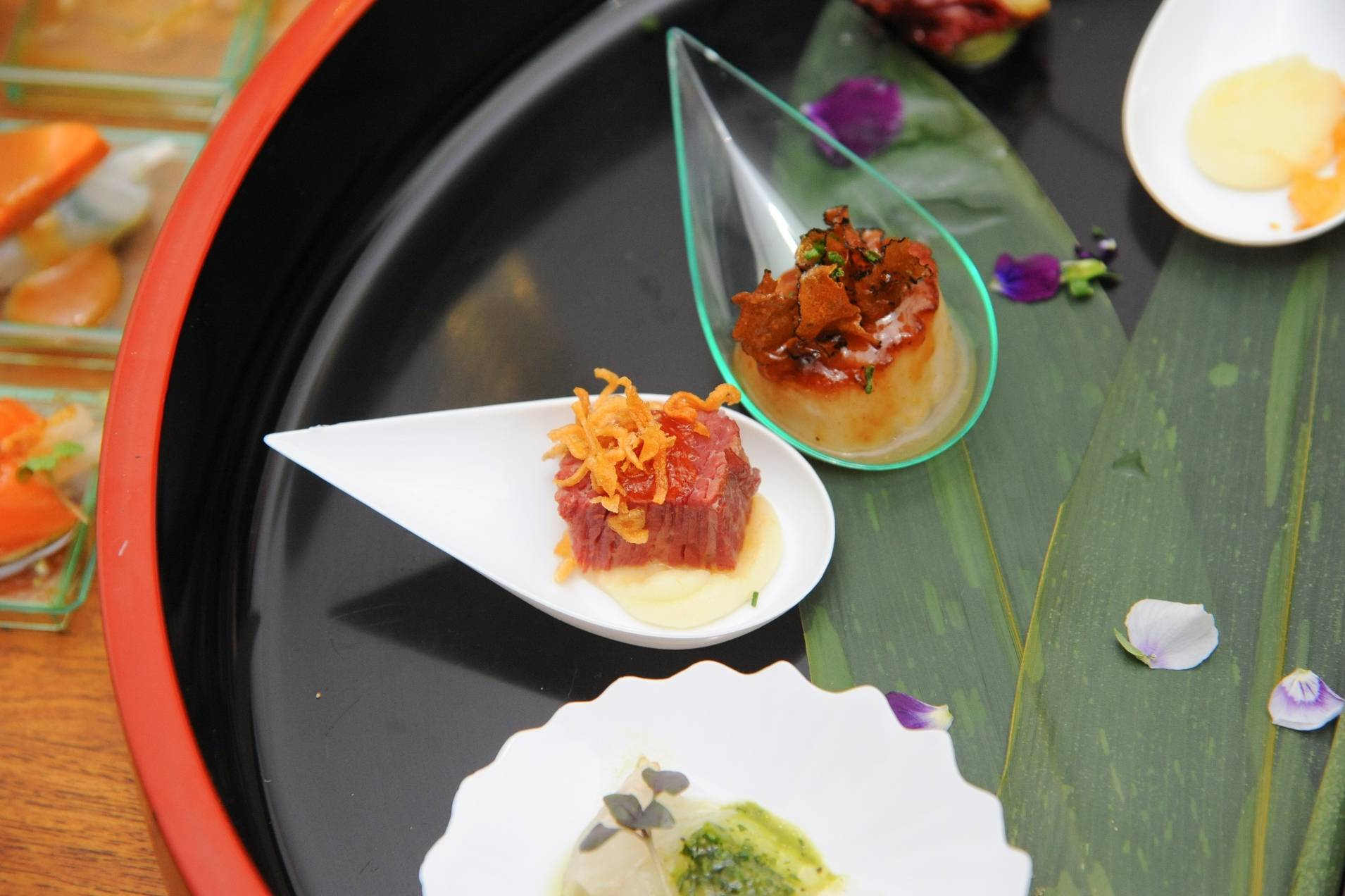 10_08_13_ Assortment of offerings at Canapés and Cocktails Photo Credit Patrick Gray