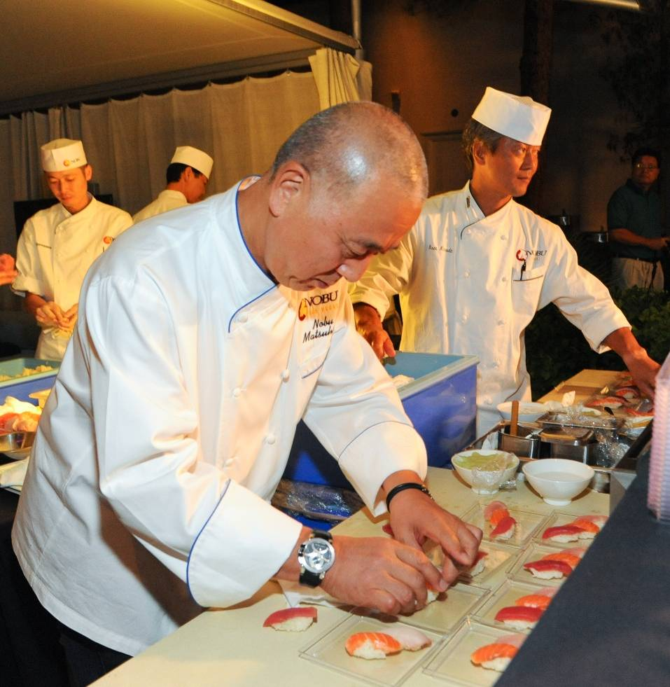 10_08_13_Chef Nobu Matsuhisa preparing sushi Photo Credit Patrick Gray