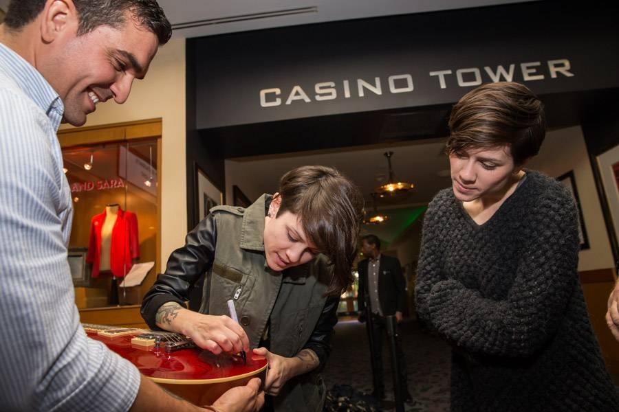 Tegan and Sara honored with display at Hard Rock Hotel & Casino in Las Vegas