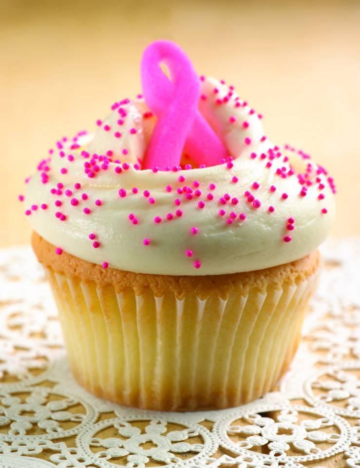 Pink Ribbon Cupcake