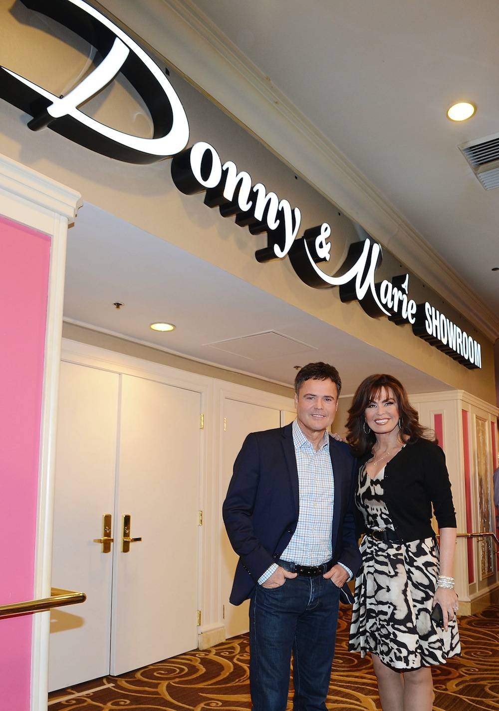 Donny & Marie Osmond Celebrate The Renaming Of Their Showroom At Flamingo Las Vegas To The Donny & Marie Showroom